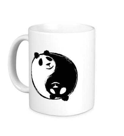 Керамическая кружка Панда Инь Ян