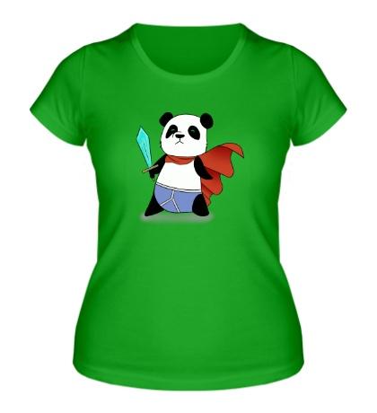 Женская футболка Панда Герой