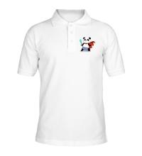 Рубашка поло Панда Герой