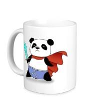 Керамическая кружка Панда Герой