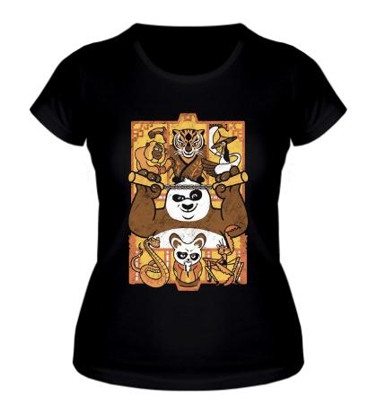 Женская футболка Панда: Воин дракона