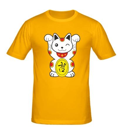 Мужская футболка Японский котик