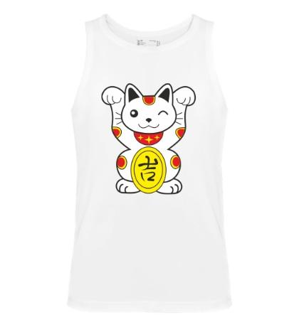 Мужская майка Японский котик