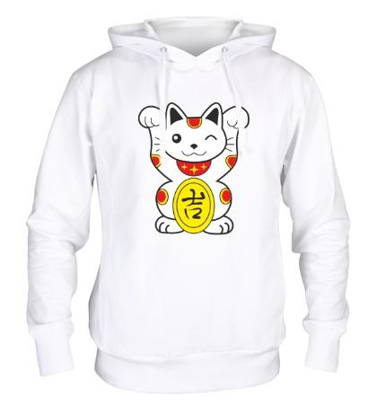Толстовка с капюшоном Японский котик