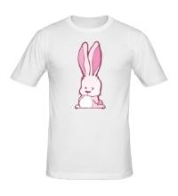 Мужская футболка Розовый зайчик