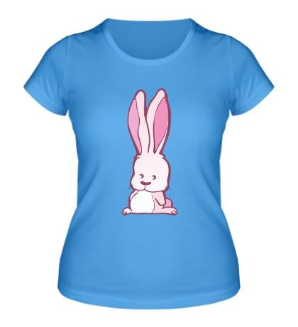 Женская футболка Розовый зайчик