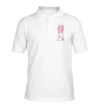 Рубашка поло Розовый зайчик