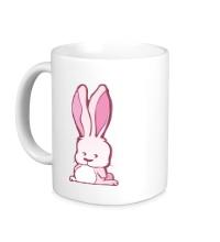 Керамическая кружка Розовый зайчик