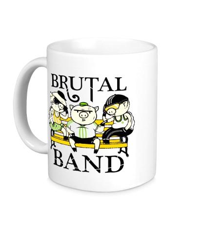 Керамическая кружка «Brutal Band»