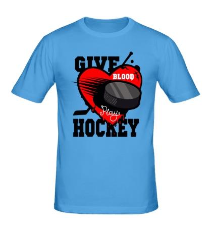 Мужская футболка Give Blood Hockey