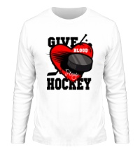 Мужской лонгслив Give Blood Hockey