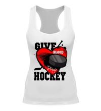 Женская борцовка Give Blood Hockey