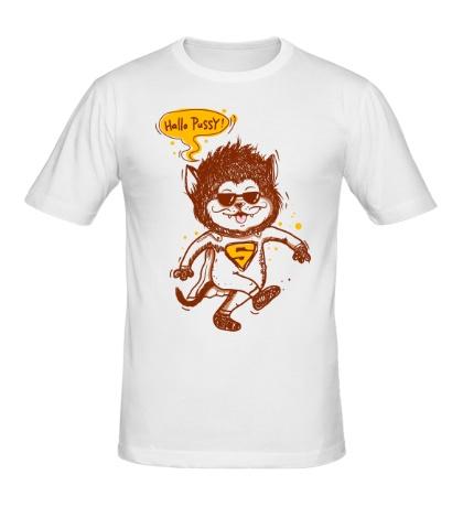 Мужская футболка Hallo Pussy