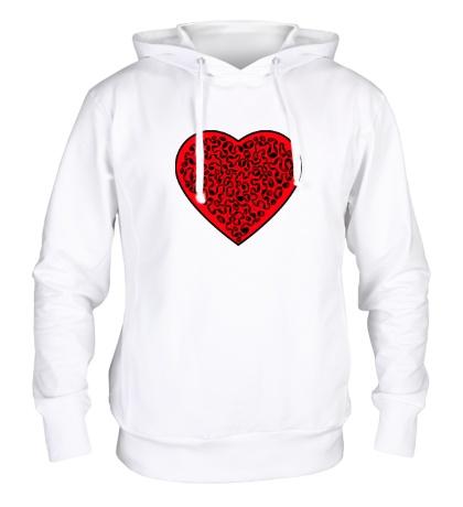 Толстовка с капюшоном Кровавое сердце