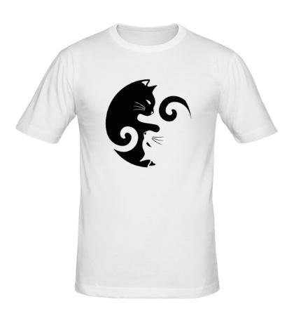 Мужская футболка Коты инь-янь