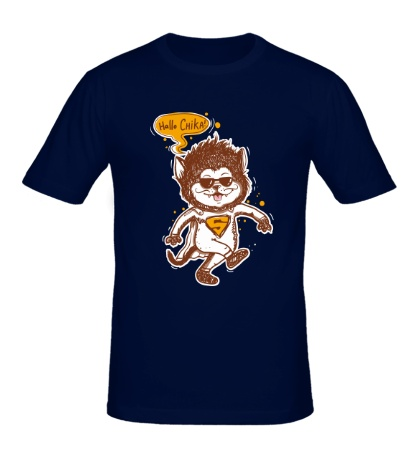 Мужская футболка Supercat: Hallo Chika