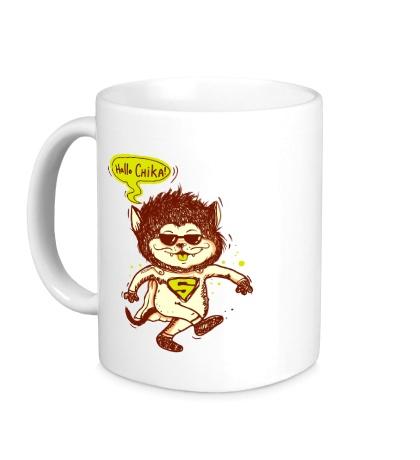 Керамическая кружка «Supercat: Hallo Chika»
