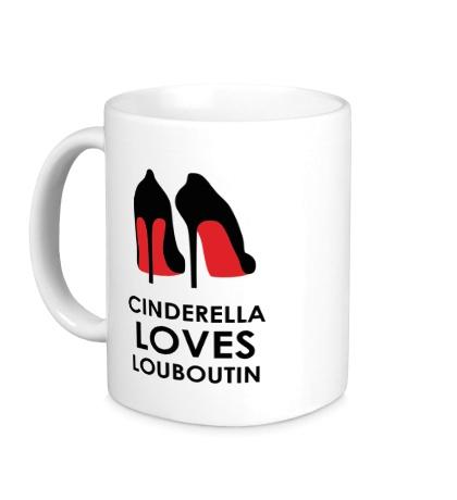 Керамическая кружка Cinderella Loves Louboutin