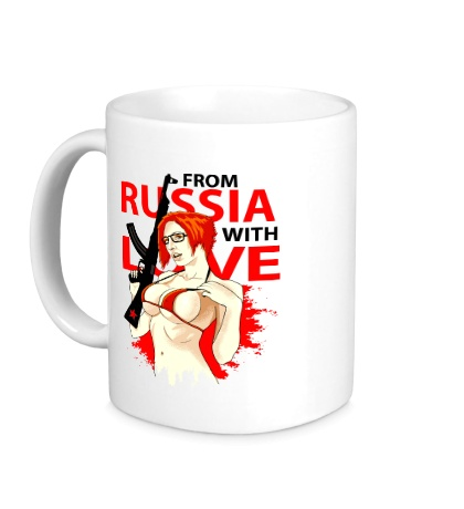 Керамическая кружка Из России с любовью