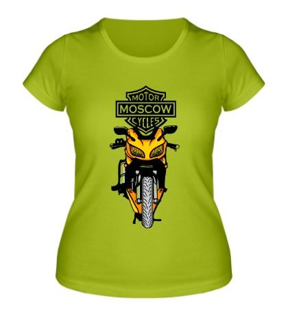 Женская футболка Motor Moscow Cycles