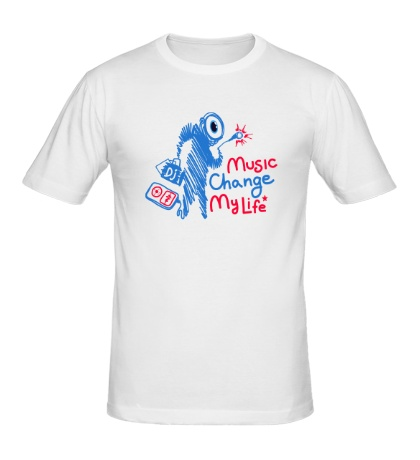 Мужская футболка Music Change My Life