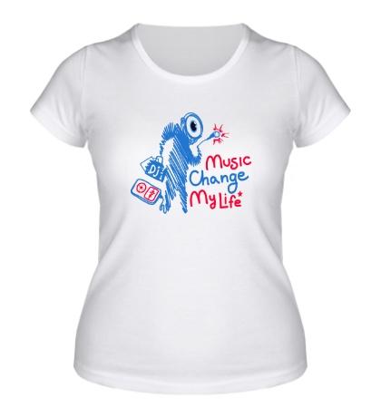 Женская футболка Music Change My Life