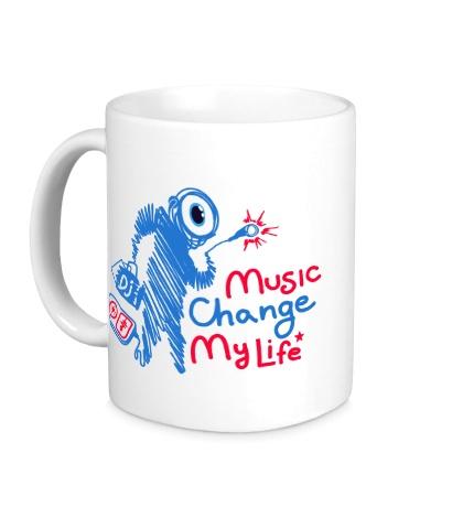 Керамическая кружка Music Change My Life