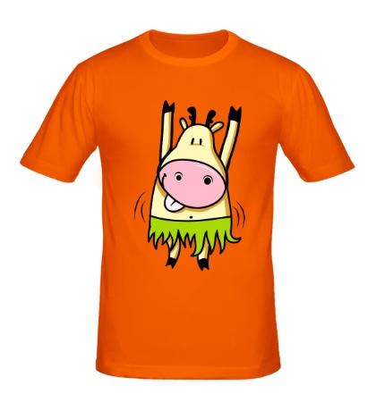 Мужская футболка Танцующая корова