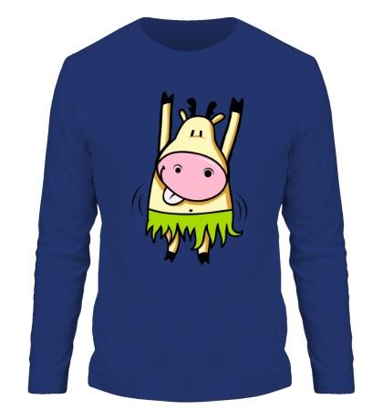 Мужской лонгслив Танцующая корова