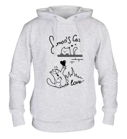 Толстовка с капюшоном Simons Cat, My Love