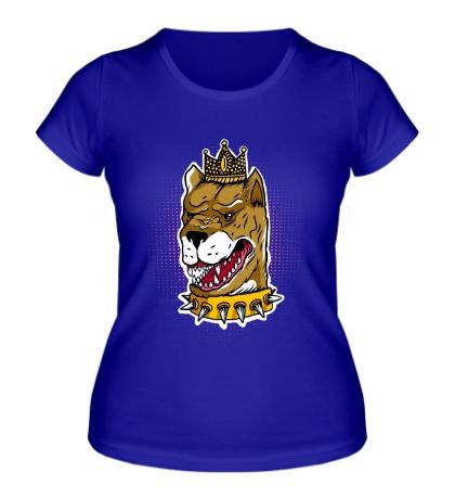 Женская футболка Пес король