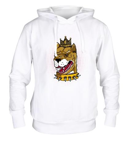Толстовка с капюшоном Пес король