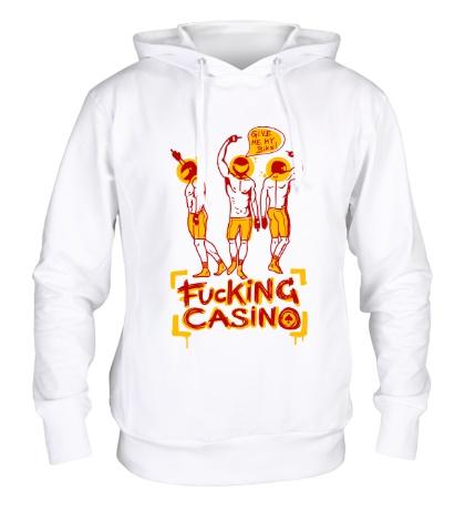 Толстовка с капюшоном Fuсking casino
