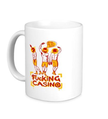 Керамическая кружка Fuсking casino