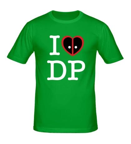 Мужская футболка I love deadpool