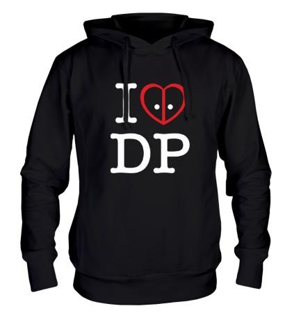 Толстовка с капюшоном I love deadpool