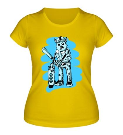 Женская футболка Викинг Скейтер