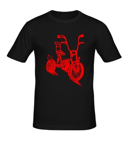 Мужская футболка Трехколёсный велосипед