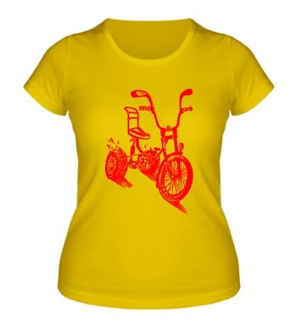 Женская футболка Трехколёсный велосипед