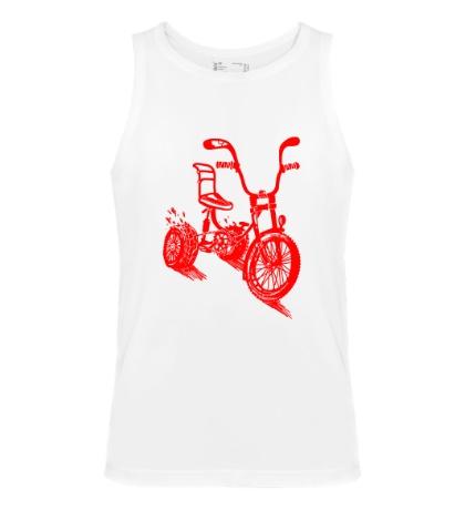 Мужская майка Трехколёсный велосипед