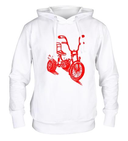 Толстовка с капюшоном Трехколёсный велосипед