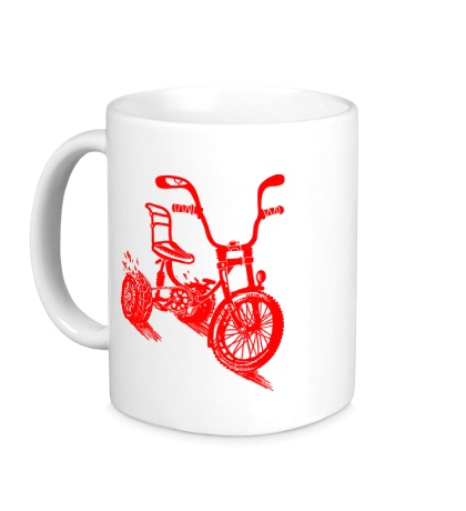 Керамическая кружка Трехколёсный велосипед