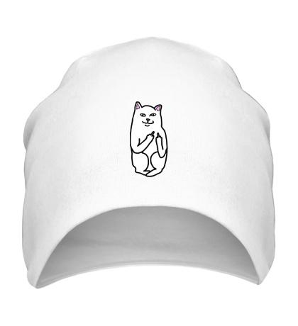 Шапка Кот показывающий фак