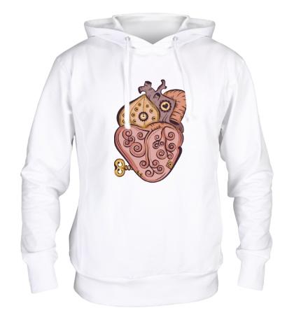 Толстовка с капюшоном Стимпанк сердце