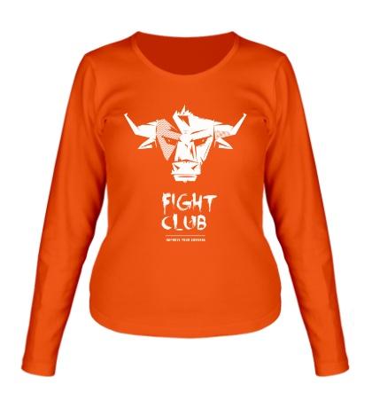 Женский лонгслив Bull: Fight club