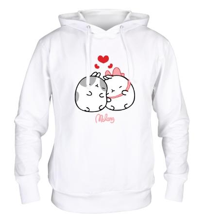 Толстовка с капюшоном Кролик Моланг влюблен