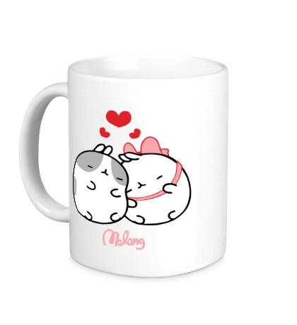 Керамическая кружка Кролик Моланг влюблен
