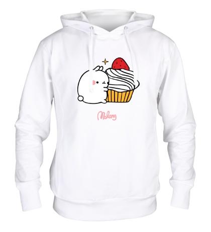 Толстовка с капюшоном Кролик Моланг и кекс