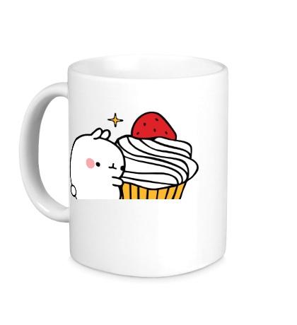 Керамическая кружка Кролик Моланг и кекс