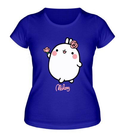 Женская футболка Кролик Моланг с цветами